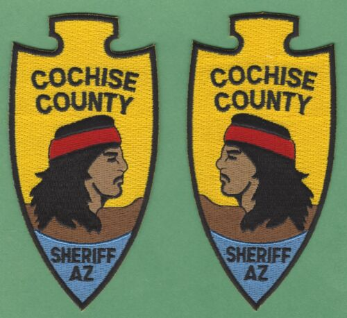 COCHISE COUNTY SHERIFF ARIZONA SHOULDER PATCHES OPPOSING FACE LEFT & RIGHT