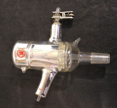Distillation Feed Head Column Silvered Vacuum Jacketed - Lab Glass Various Ports