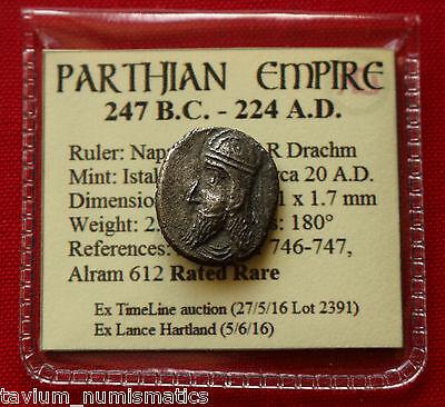 Rare Silver Drachm Napad Istakhr Persis 20 AD Parthian Empire Coin