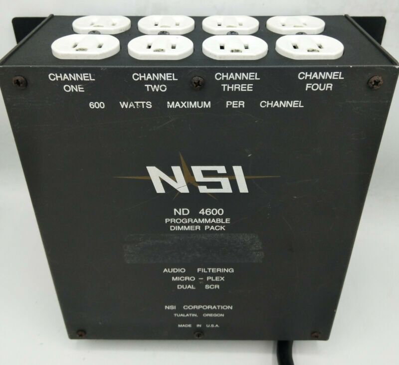 NSI ND-4600 Stage Lighting Programmable Dimmer Pack 4 Channel Micro-Plex 2400W