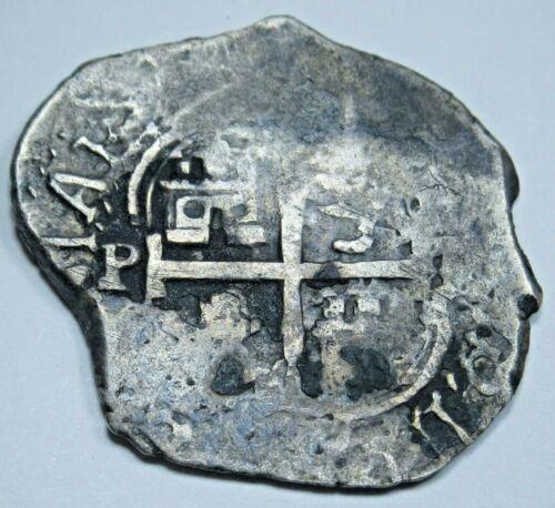 1670 Shipwreck Spanish Silver 1 Reales Antique Real Colonial Treasure Cob Coin