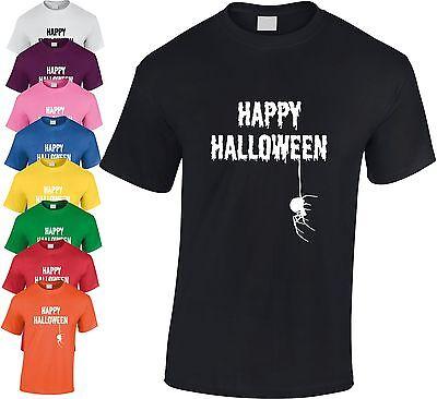 Happy Halloween Spinne Kinder T-Shirt Cool Gespenstisch Geschenk Unheimlich ()