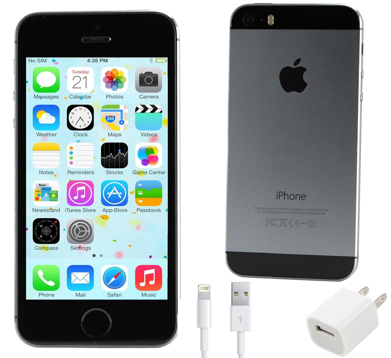 apple iphone 5s 16gb 4g lte prepaid black slate. Black Bedroom Furniture Sets. Home Design Ideas