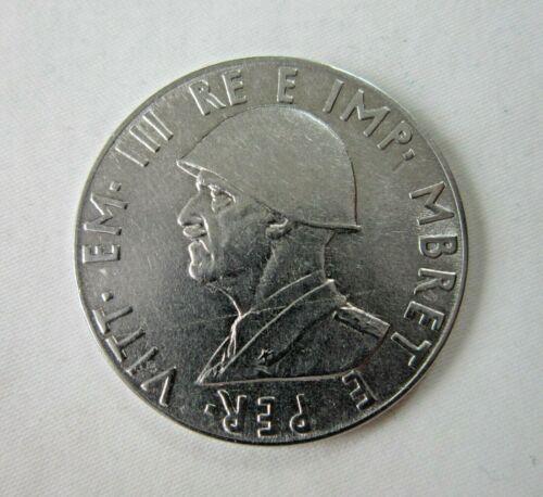 ALBANIA, ITALIAN OCCUPATION. 2 LEK, 1939. NON-MAGNETIC.