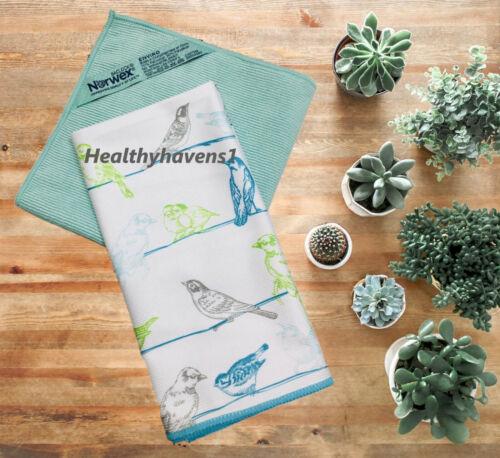 Norwex Basic Package BIRD Window Cloth & GREEN ENVIROCLOTH ENVIRO MICROFIBER