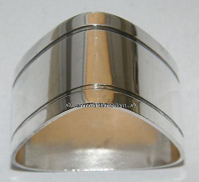 Ausgefallener Design Serviettenring dreieckig Silber Schweden K&EC Carlson 1965