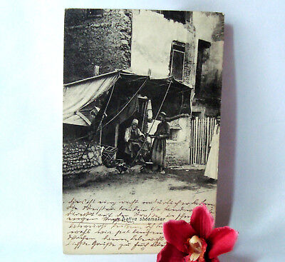 alte AK Ägypten Karte naiver Schuhmacher um 1909 Postkarte Alexandrie / cs 841