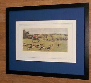 South Dorset Hunt - Cecil Aldin - vintage horse & hound print- 20''x16'' frame