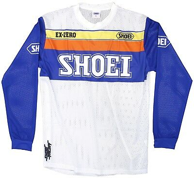 Crosshemd Shoei MX Shirt Equation weiß blau orange gelb Gr. M Motocross Trikot