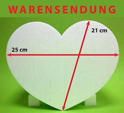 Styropor Herz 1 Stück 25 x 21,5 Höhe 8 cm weiß Hochzeit Warensendung Liebe Love