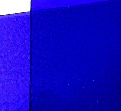 (2 pack) 6 x 8 inch Stained Glass Sheets COBALT BLUE Rough Rolled Spectrum