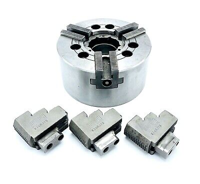 Howa 6-12 3-jaw Power Lathe Chuck Model Hh037m6 2 Bore Mount 1 Jaw Set