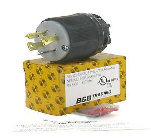 nema l14 30 30a 125 250v 3 pole 4w grounding w external cord grip l14 30p