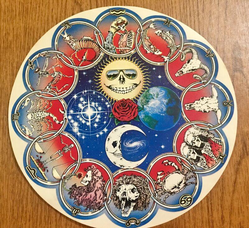 Vintage 90's Grateful Dead Horoscope Skeltons Decal