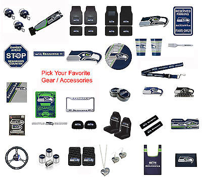 New NFL Seattle Seahawks Pick Your Gear / Car Accessories Official Licensed - Seattle Seahawks Gear