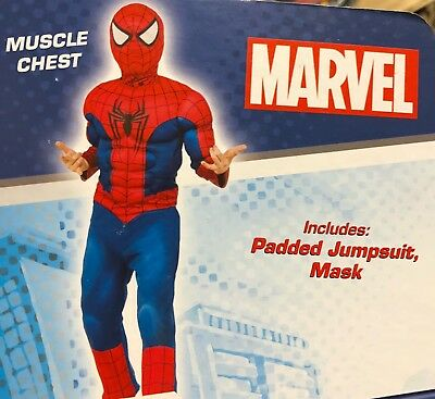 Ultimate Spider-Man Muscle Costume Marvel Comics SIZE SMALL - Ultimate Comics Spider Man Kostüm