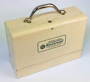 Vintage Porter Cable Rockwell industrial drill metal case