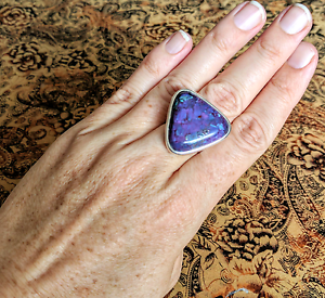 Purple Mojave Turquoise Ring, sz 8 US, GENUINE, Large, brand NEW South Brisbane Brisbane South West Preview