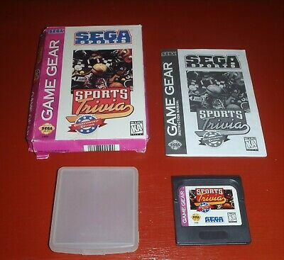 Sports Trivia: Championship Edition (Sega Game Gear, 1995) -Complete