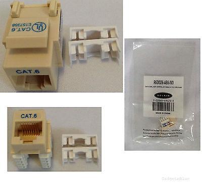 BELKIN CAT6 KEYSTONE JACKS RJ45 JACK NETWORK CONNECTOR T568A/B R6D026-AB6-IVO