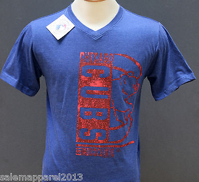 Chicago Cubs T Shirt Mlb Licensed Apparel Souvenir Wrigley Field Blue   Nwt