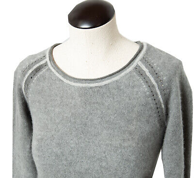 Tommy Bahama Cashmere Sweater Gray Long Sleeve Roll Neck Size Small S