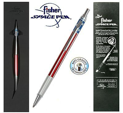 Fisher Space Pen #AFP5 Boxed / Red White & Blue Click Action Ballpoint Pen