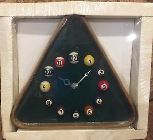 *Brand New* Triangle Pool Ball Wall clock