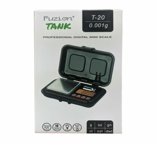 Fuzion Tank Digital Pocket Mini Scale, High Precision, T-20/ 0.001g