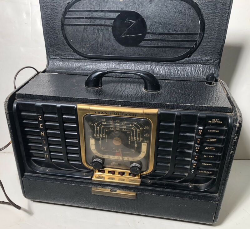 Early Post-war Zenith Trans-Oceanic Clipper Shortwave Radio 8G005TZ1 Works
