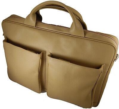 Castello Soft Italian Ladies Leather Briefcase with Shoulder Straps - Italian Leather Ladies Briefcase