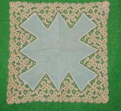 Damen Taschentuch mit originaler uralter Spitze um 1910/20