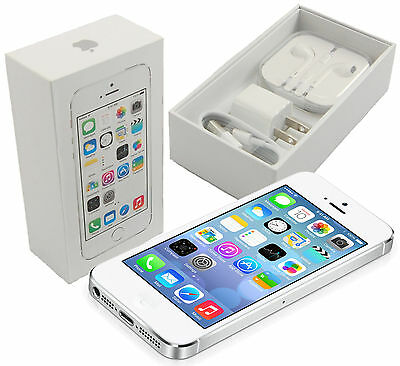 $214.99 - New In Box Apple iPhone 5s 16 GB Silver Factory Unlocked for ATT T-Mobile