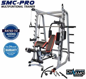 home gym smith machine cable crossover / FID weight bench NEW