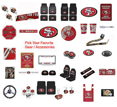 - Brand New NFL San Francisco 49ers Pick Your Gear / Accessories Official Licensed