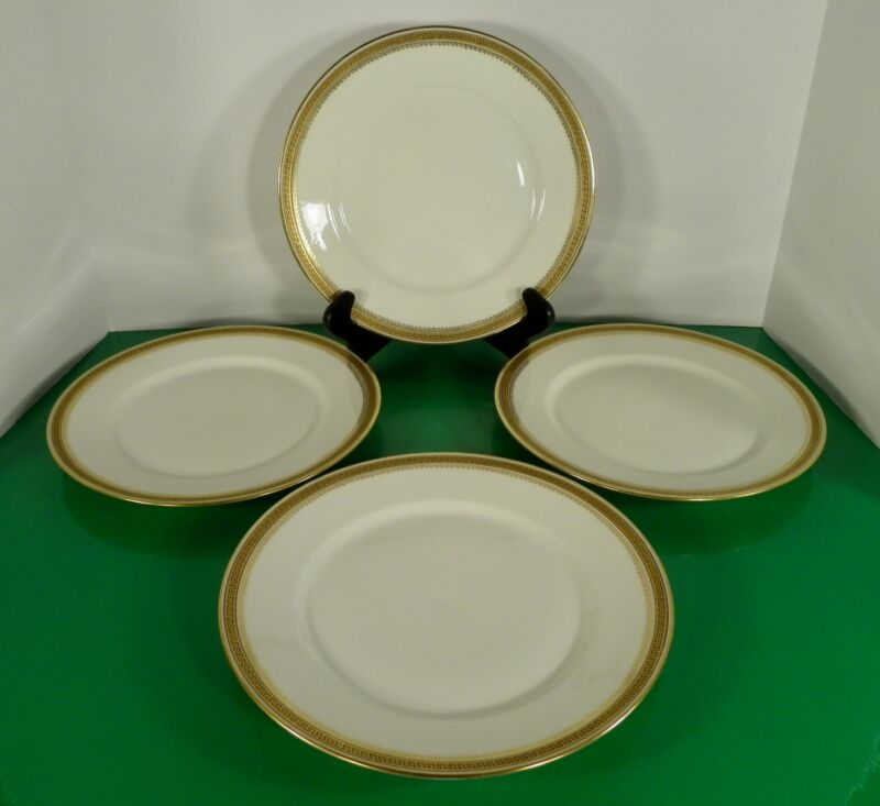Antique Wm Guerin Co Limoges GREEK KEY Dinner Plate (s) LOT OF 4 GUE6