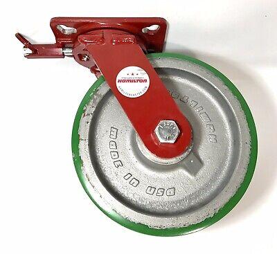 Heavy Duty Caster Wheel Hamilton 10 With 4-position Swivel Lock And Wheel Brake