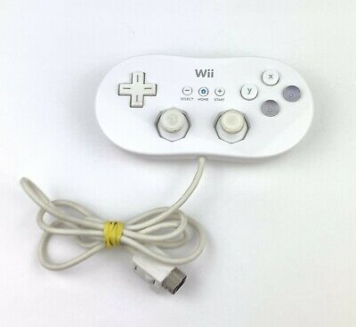 Nintendo Wii -Authentic OEM Classic Controller GamePad - White RVL-005 - Tested