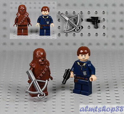 LEGO Star Wars - Han Solo & Chewbacca Minifigures 6212 X-Wing Fighter 7778 7965