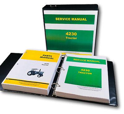 Technical Service Manual Parts Catalog For John Deere 4230 Tractor Shop Repair