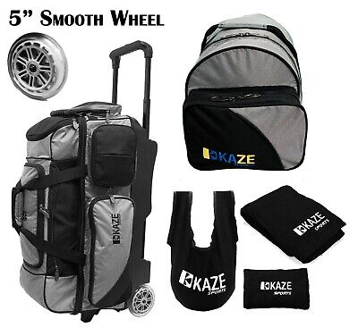 KAZE SPORTS 3 Ball Bowling Roller Smooth Wheel Add-On Spare Tote Bag Seesaw 4 - 4 Ball Bowling Bags
