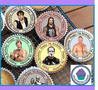 RTHDAY CUPCAKE TOPPERS WAFER PAPER, ICING OR PRE-CUT WAFER (Wwe Cupcake Toppers)