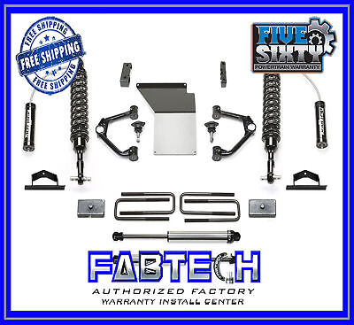 "Fabtech K1109DL 4"" Budget System w/Ball Joint UCA 14-17 GM C/K1500 2/4WD-Aluminu"
