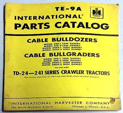International Parts Catalog Cable Bulldozers Bullgraders Crawler Tractors