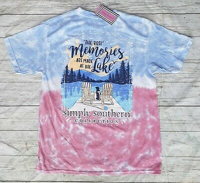 """NWT Simply Southern """"The Best Memories Are Made At The Lake"""" YOUTH Sz. Large"""