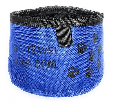 2-PACK Collapsible Foldable Dog or Pet Bowl for Water and Food in Red and Blue