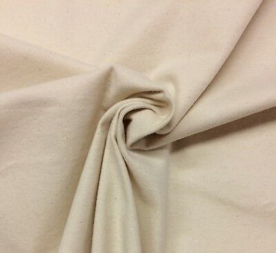 Cotton Flannel Liner - NATURAL HEAVY FLANNEL 100% COTTON DRAPERY CRAFT LINING BACKING FABRIC BTY 54