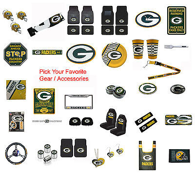 Brand New Nfl Green Bay Packers Pick Your Gear   Accessories Official Licensed
