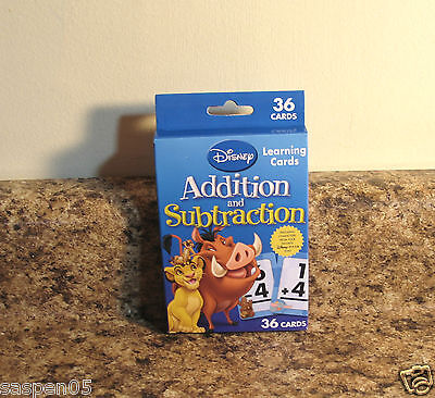 Disney Learning Flash Cards Addition Subtraction  Math Teacher Resource New