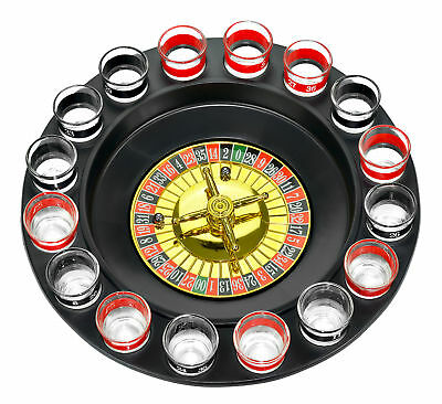 Shot Glass Roulette – Drinking Game Set (Comes With 2 Balls and 16 Shot Glasses) Games